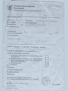 Firmengeschichte - Gewerbeanmeldung Raumausstattung Lederle München